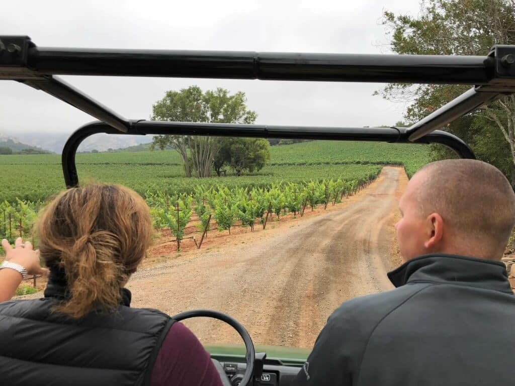 ATV tour of the vineyards